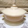 FireKing, Ivory, Covered Casserole & Table Server Set