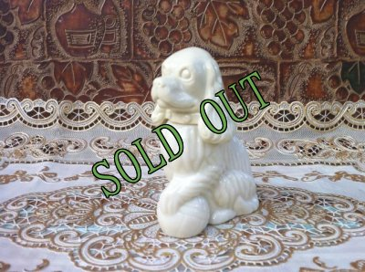 画像2: sold Avon, Moonwind Cologne, Milk Glass, Cocker Spaniel Dog Bottle