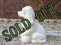sold Avon, Moonwind Cologne, Milk Glass, Cocker Spaniel Dog Bottle