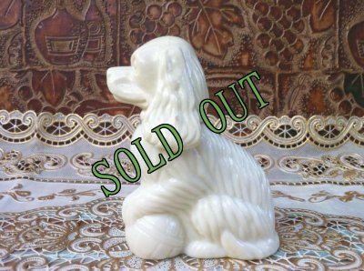 画像1: sold Avon, Moonwind Cologne, Milk Glass, Cocker Spaniel Dog Bottle
