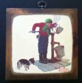 Norman Rockwell,   Wooden Plaque, Boy with Water Bucket, made in USA