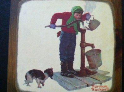 画像2: ノーマン・ロックウェル 木製アート バケツの少年
