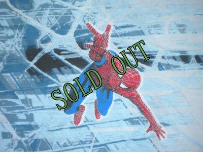 画像1: sold ビンテージ スパイダーマン ツインサイズ フラットシーツ
