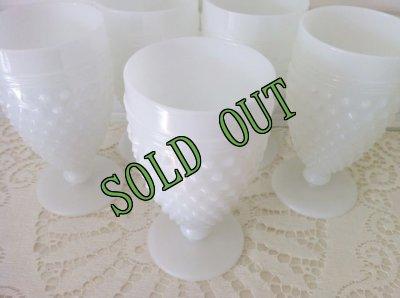 画像1: sold アンカーホッキング ミルクグラス ホブネイル タンブラー