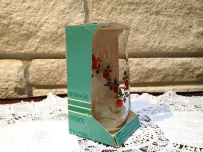 画像2: Anchor Hocking, Vintage Red Roses Glass, Brand New