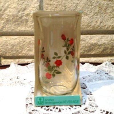 画像1: Anchor Hocking, Vintage Red Roses Glass, Brand New