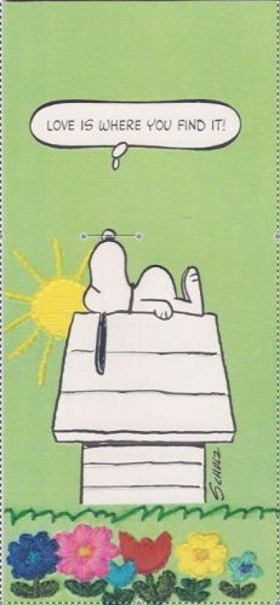 画像1: スヌーピー ビンテージ未使用カード 封筒付