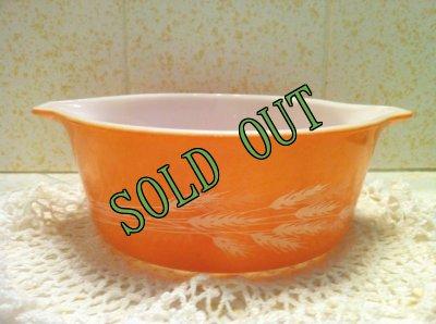画像1: sold Pyrex,  Autumn Harvest,  Round Casserole, 750mll,  #472-B