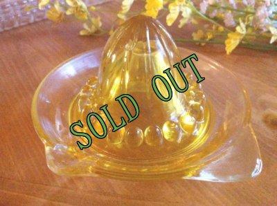 画像1: sold デプレッショングラス イエロー・リーマー(レモンしぼり器)