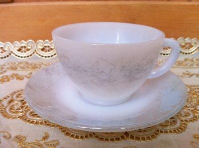 画像2: フェデラル ミルクグラス メタリックスクラッチ模様入り 3ピースセット