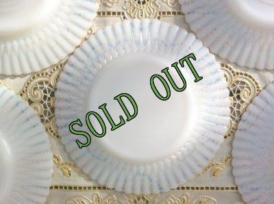 画像3: sold マクベスエバンス ペタルウェア ブレッド&バター・プレート No.2 ゴールドエッジ 裏面に波紋状ラインなし