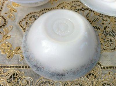 画像5: フェデラル ミルクグラス メタリックスクラッチ模様入り 3ピースセット