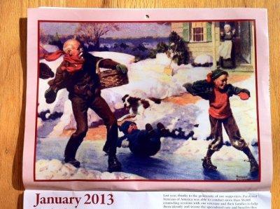 画像4: ノーマン・ロックウェル 2013年13ヶ月カレンダー (2012年12月〜2013年12月)