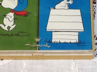 画像4: スヌーピー ビンテージ ・ホールマーク トランプセット(2種類 )