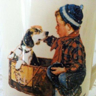 画像2: ノーマン・ロックウェル ノーマン・ロックウェル・ミュージアムの1984年製フォーシーズン・マグ・コレクション 「少年と愛犬(1958年)」 No.3