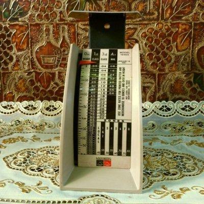 画像1: ビンテージ・ポスタル・スケール(郵便秤) 2ポンド秤 ※オンス-ポンド計量のみ アメリカの1967年1月15日郵便料金レート版