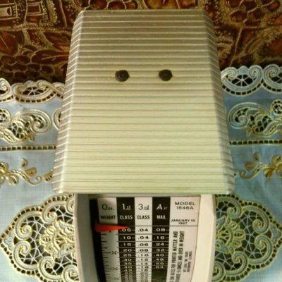 画像4: ビンテージ・ポスタル・スケール(郵便秤) 2ポンド秤 ※オンス-ポンド計量のみ アメリカの1967年1月15日郵便料金レート版
