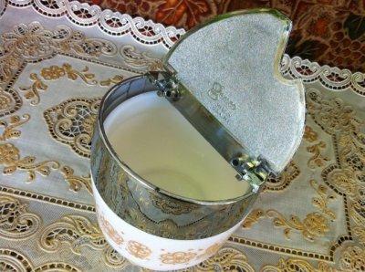 画像4: ゲムコ/コーニング ミルクグラス バタフライ・パイレート・ゴールド柄 砂糖壺 1971年