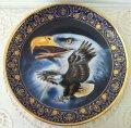 ロイヤルドルトン 限定版 金彩飾り皿 アメリカンイーグルと虹