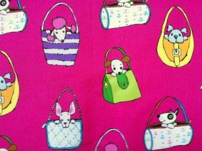 画像1: American Designer Fabric,  Pocket Pups by Michael Miller Fabric,