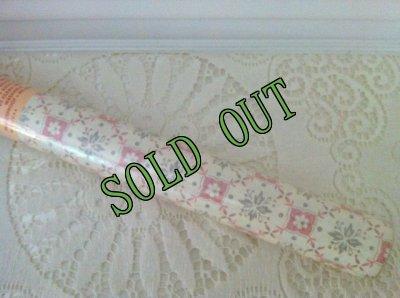 画像2: sold  新品未開封 ビンテージ・インテリア・ライナー ピンクの格子柄