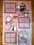 画像1: 【限定奉仕品】1977年版カレンダー 未使用キッチンリネン (1)