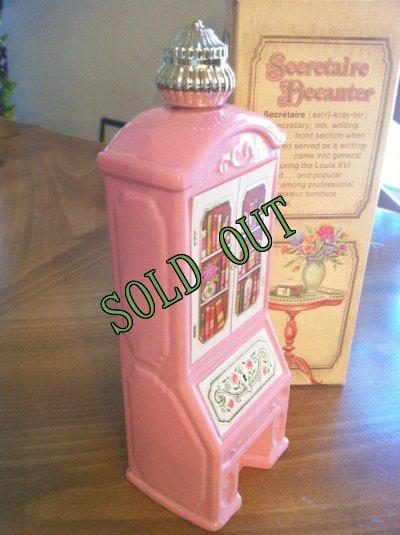 画像2: sold Avon, Pink Glass, Seeretaire Decanter, Brocade (5 fl.oz) with Box with Box