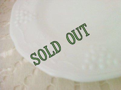 画像3: sold インディアナグラス ミルクグラス ハーベストグレープ ブレッド&バター・プレート