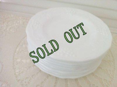画像4: sold インディアナグラス ミルクグラス ハーベストグレープ ブレッド&バター・プレート