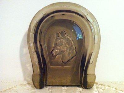 画像1: エイボン アンバーグラス 馬蹄形灰皿