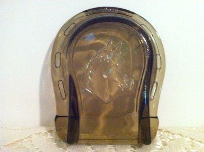 画像2: エイボン アンバーグラス 馬蹄形灰皿