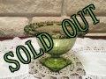 sold インディアナグラス グリーングラス ローレイン レースエッジ コンポート