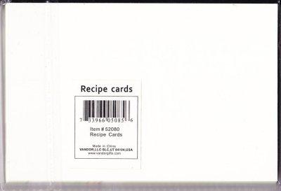画像2: 新品未使用レシピ用カード(29枚) 1950年代風 意味深ユーモア「チャイルドプルーフハウス」