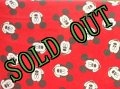 sold ディズニー ミッキーマウス ツインサイズ ボックスシーツ made in USA