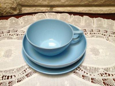 画像2: ビンテージ レノックス・ウエアー 朝食用3点セット メラミン(プラスティック)