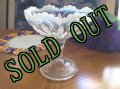 Vintage Glass Compote, 1940s
