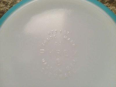 画像4: パイレックス バタープリント/ブルー ラウンド・キャセロール 1クウォート(約lリットル) その1