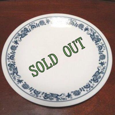 画像1: sold コレール(コーニング社)オールドタウンブルー サラダプレート AS IS
