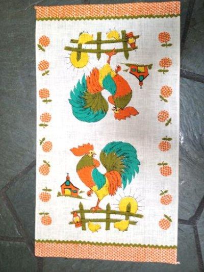 画像2: Vintage New Kitchen Linen, Rooster