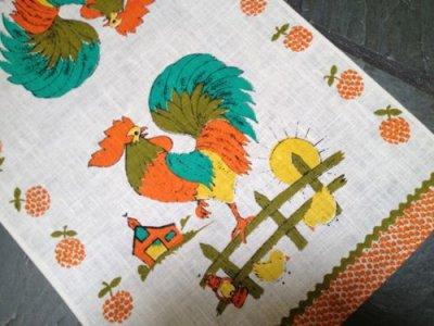 画像1: Vintage New Kitchen Linen, Rooster