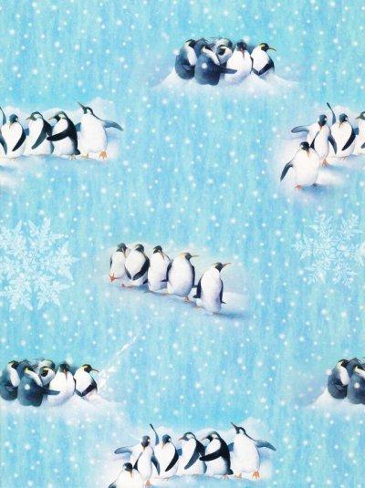 画像1: WWF(世界自然保護基金) クリスマス 未使用ラッピングペーパー ペンギン