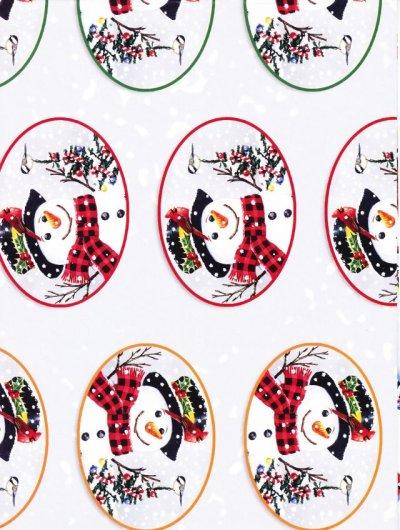 画像1: NWF(National Wildlife Federation) クリスマス 未使用ラッピングペーパー スノーマン