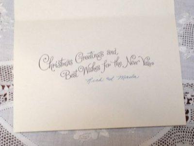 画像3: ビンテージ 使用済 クリスマスカード サンタにっこり