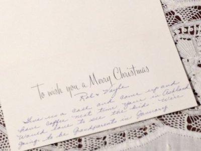 画像2: ビンテージ 使用済 クリスマスカード 赤いローソク Made in USA