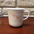Corning,  Mug,  Peach Garland (Discontinued) , AS IS