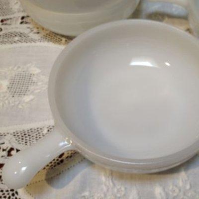 画像5: ミルクグラス ワンハンドル フレンチキャセロール グラスベイクかも