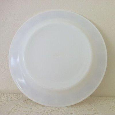 画像3: パイレックス ミルクグラス カッパーフィルグリー ディナープレート お買得AS IS
