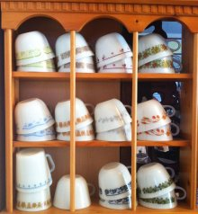 他の写真1: sold パイレックス ミルクグラス サマー・インプレッション・サンシャイン ぽってりカップ