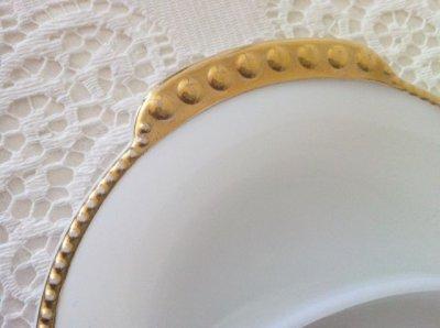 画像3: ファイヤーキング ミルクグラス 22Kゴールドトリム デバイデッド・レリッシュ・トレイ