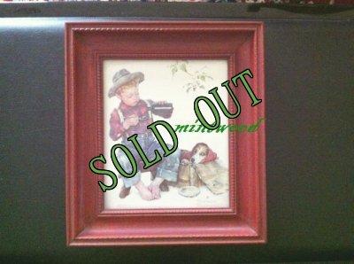 画像1: sold ノーマン・ロックウェル アートフレーム 「少年と愛犬(1956年)」